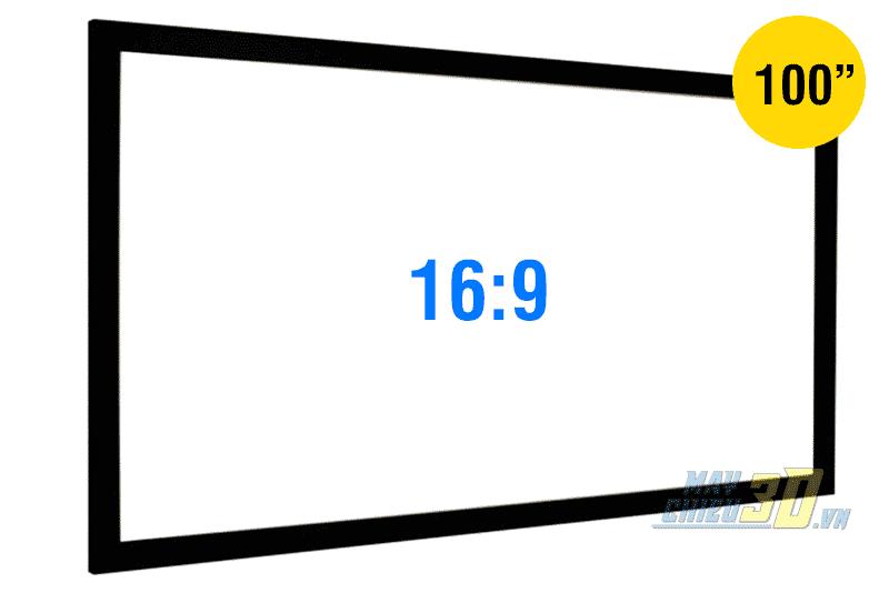 Màn chiếu khung cố định 100 inch xem phim HD 3D chất lượng cao