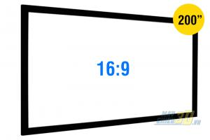 Màn chiếu khung cố định 200 inch tỉ lệ chuẩn 16:9 Full HD 3D