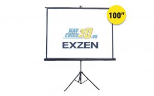 Màn chiếu 3 chân 100 inch công nghệ Hàn Quốc chính hãng EXZEN
