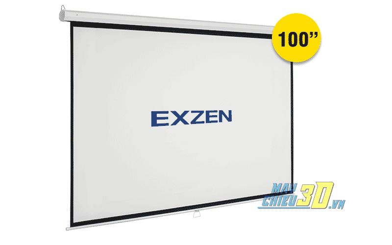 Màn chiếu treo tường kéo tay 100 inch chính hãng EXZEN Hàn Quốc