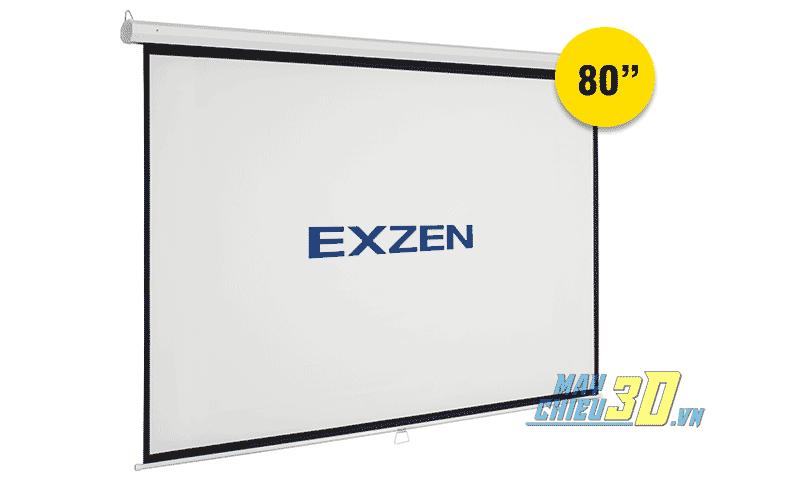Màn chiếu treo tường kéo tay 80 inch chính hãng EXZEN Hàn Quốc