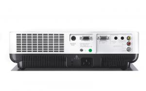 Sanyo PLC-XW55 được trang bị đầy đủ các cổng kết nối cơ bản